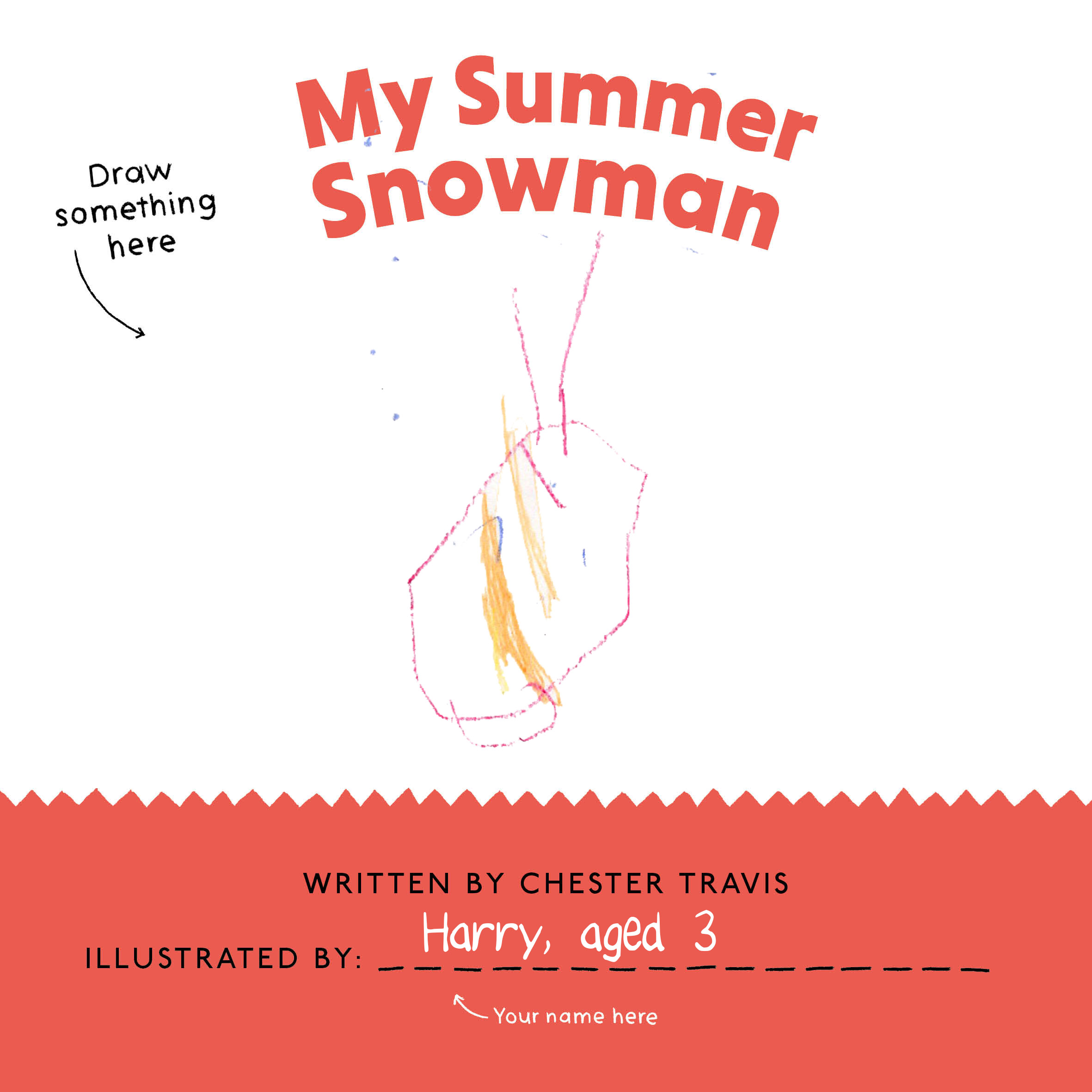My Summer Snowman by Chester Travis Curved House Kids