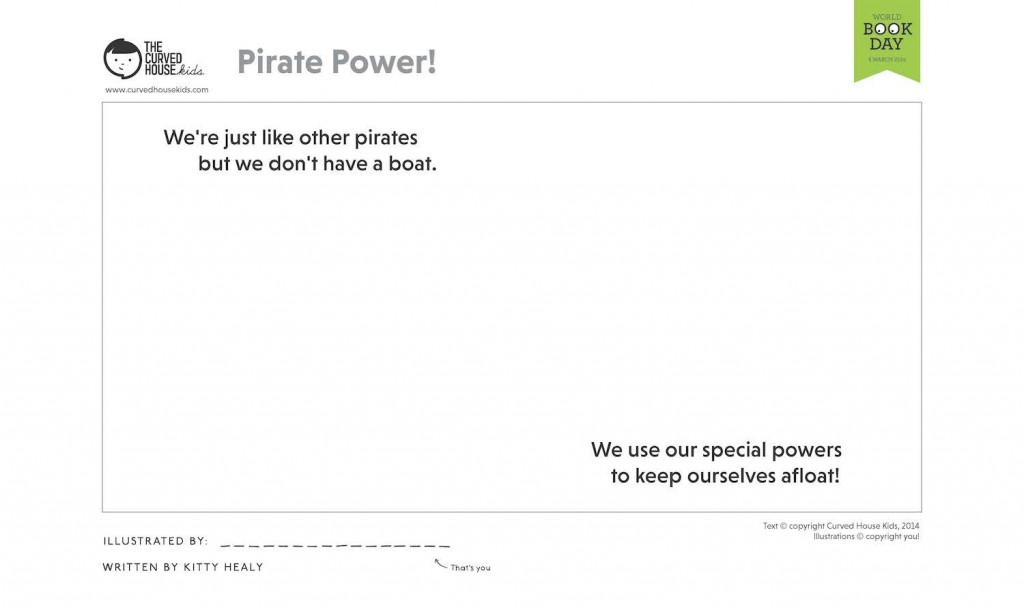 world book day pirate power by curved house kids