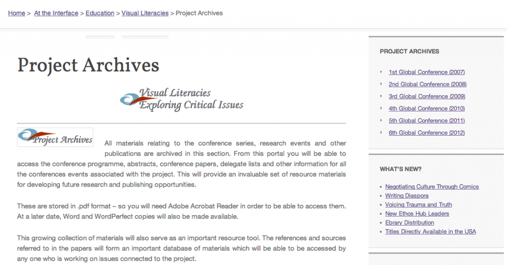 Project Archives Visual Literacy Resources