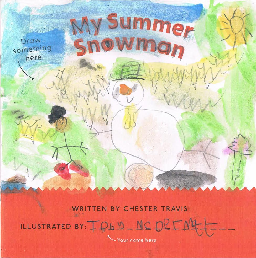 My Summer Snowman illustrated by Toby, aged 6 (just!)