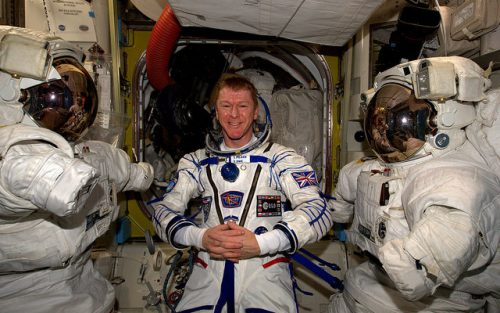 Tim Peake in Spacesuit ready for return to earth